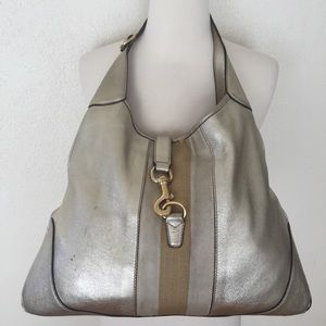 Gucci XL Metallic Jackie O Hobo Bag